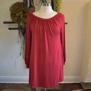 Lou & Grey long cranberry pullover top long sleeve